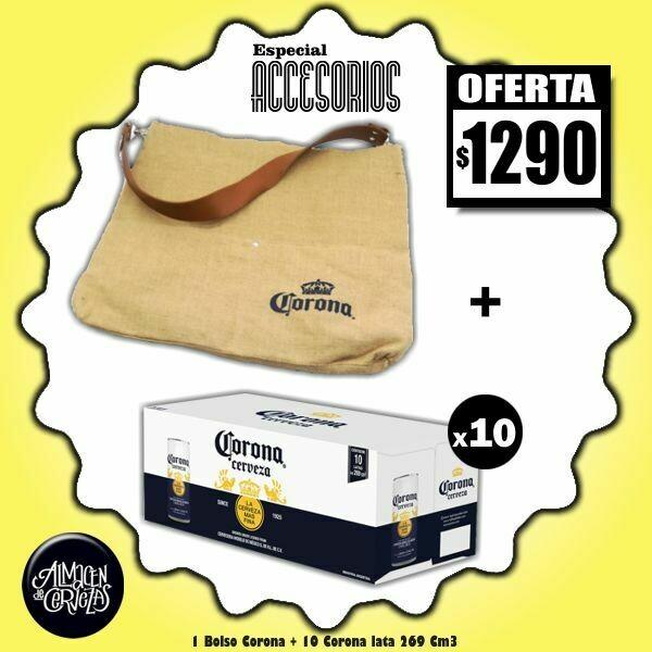 ESPECIAL ACCESORIOS - Bolso Corona + 10 Corona Lata 269Cm3