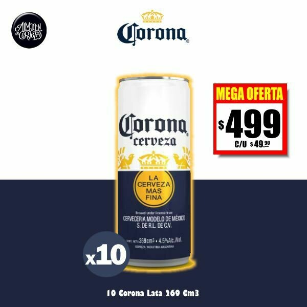 MEGA OFERTA - Corona Lata 269 Cm3 x10. Op.Express