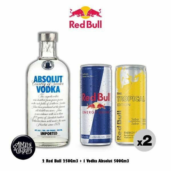 2 Red Bull 250Cm3 + Absolut 500Cm3 -Op. Express