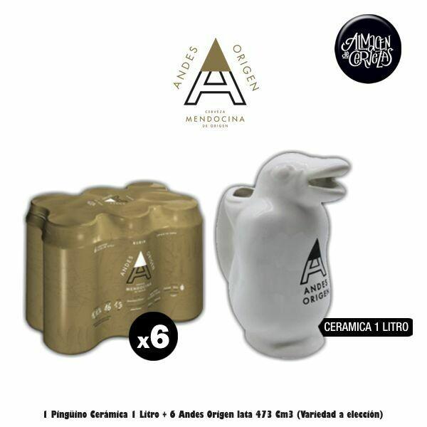 Pingüino + 6 Andes Lata 473Cm3 (Variedad a elección)