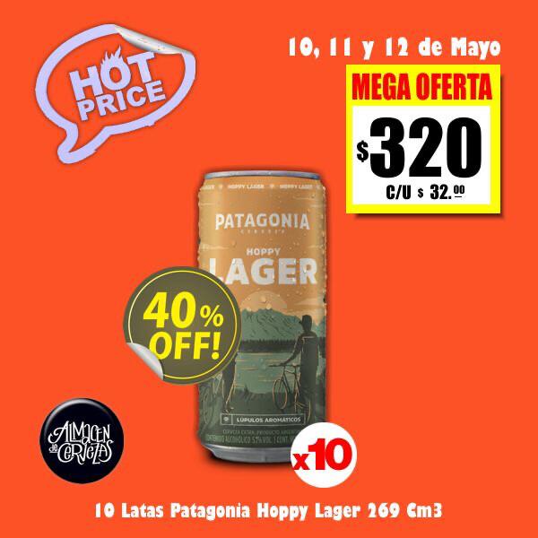 HOT PRICE - 10 Patagonia Hoppy Lager Lata 269Cm3
