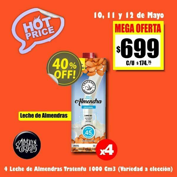 HOT PRICE - 4 Leche Vegetal TRATENFU 1 Litro