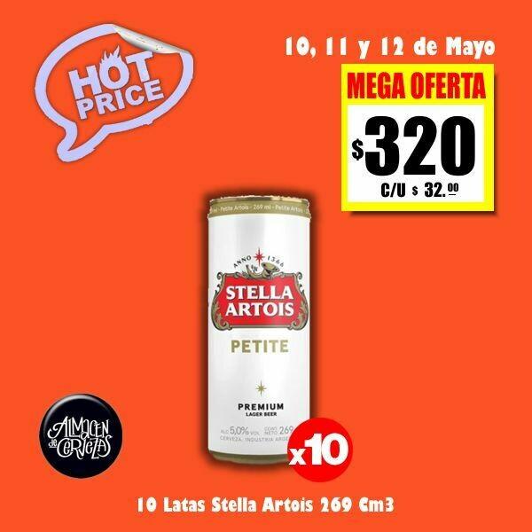 HOT PRICE - 10 Latas Stella 269Cm3.