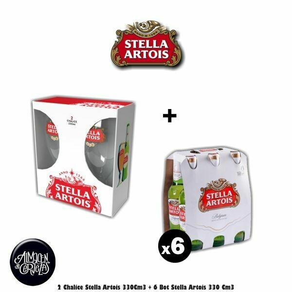 2 Cáliz Stella 330 + 6 Stella Bot 330Cm3