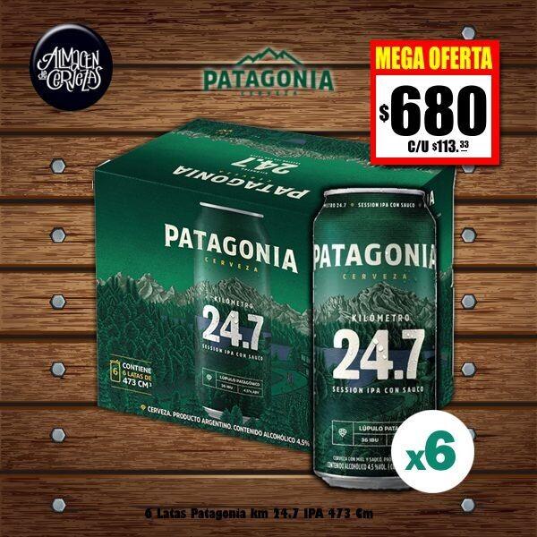 MEGA OFERTA - 6 Patagonia IPA Lata 473Cm3