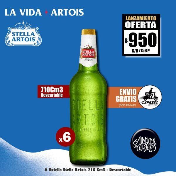 LANZAMIENTO - 6 Stella 710Cm3 Descartable. Envío Express GRATIS (Bolívar)