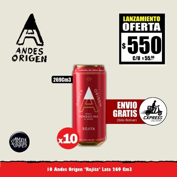 LANZAMIENTO - Andes Origen Rojita Lata 269Cm3 x 10