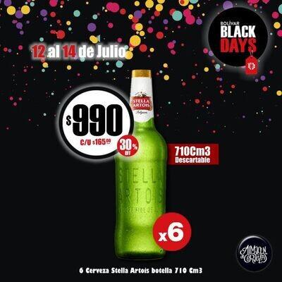 BLACKS DAYS - 6 Stella 710Cm3 Descartable. Op Express