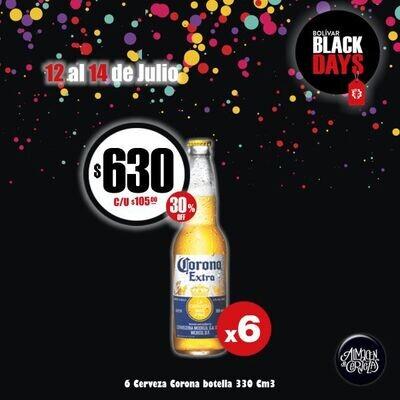 BLACK DAYS - Corona 330Cm3 x6 - Opción Express