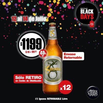 BLACKS DAYS - 12 Iguana Litro RETORNABLE (Sólo Retiro)