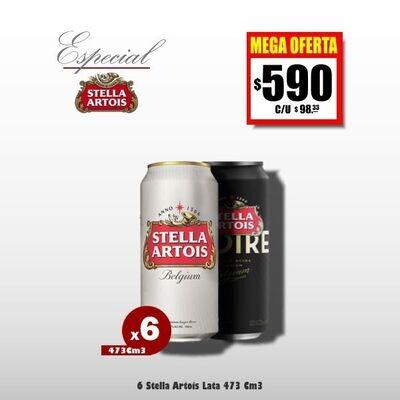 MEGA OFERTA -Lata Stella Artois 473Cm3 x6- Opción Express