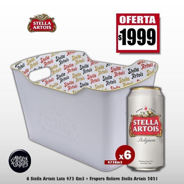 OFERTA - Frapera Stella Artois + 6 Latas Stella 473Cm3