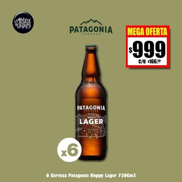MEGA OFERTA - 6 Patagonia Hoppy Lager 730Cm3. Op Express