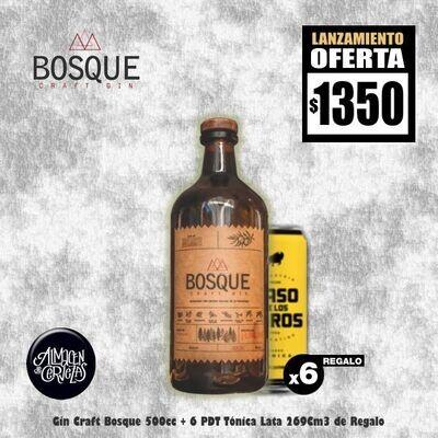 LANZAMIENTO -Craft Gin BOSQUE + 6 Latas Paso de los Toros. Op.EXPRESS