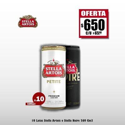 MEGA OFERTA - 10 Stella Artois Lata 269Cm3. Op Express