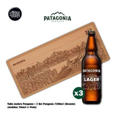Tabla Patagonia + 3 Patagonia 730Cm3