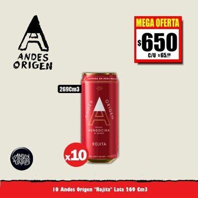 MEGA OFERTA - Andes Origen Rojita Lata 269Cm3 x 10. Op. Express