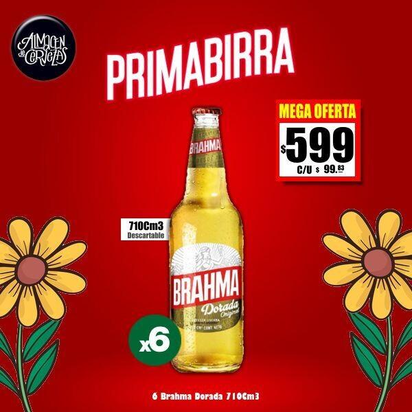 PRIMABIRRA - Brahma Dorada 710Cm3 x 6.