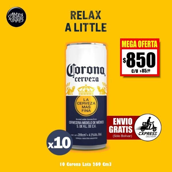 MEGA OFERTA - Corona Lata 269 Cm3 x10.