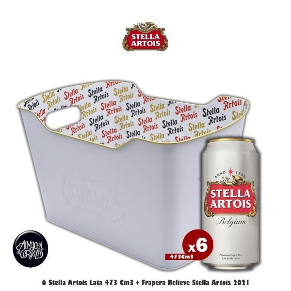 Frapera Stella Artois + 6 Latas Stella 473Cm3