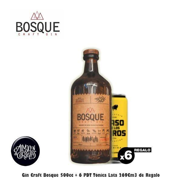 Craft Gin BOSQUE + 6 Latas Paso de los Toros. Op.EXPRESS