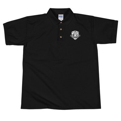 Classic White Logo - Embroidered Polo Shirt