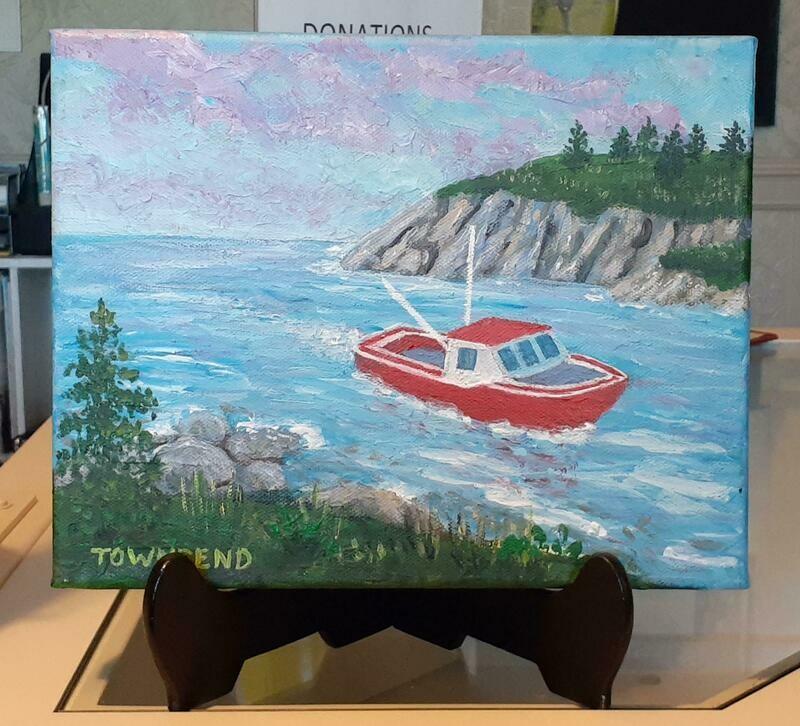 Heading Home Acrylic Painting