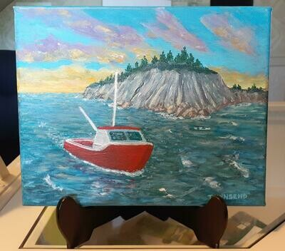 Passing the Bluff Acrylic Painting