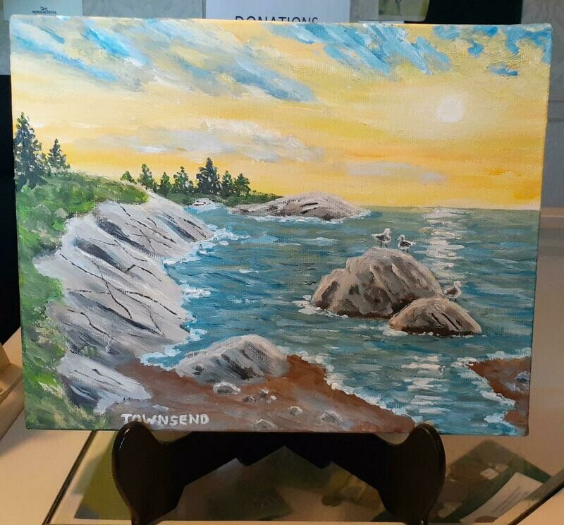 Morning in the Cove Acrylic Painting