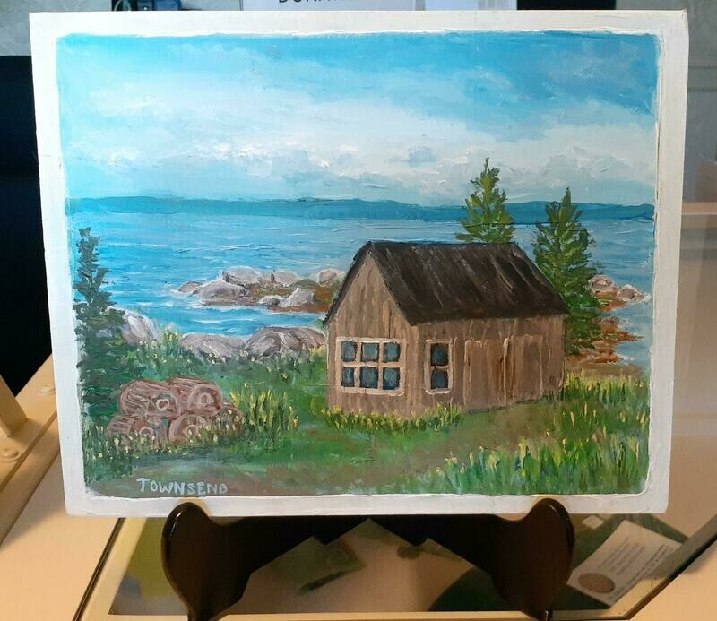 Old Shed on the Bay Acrylic Painting