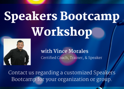 Speaker's Bootcamp Workshop (Webinar)