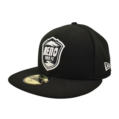 Reno 1868 FC New Era 59Fifty Fitted Hat Black with White Logo