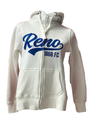 Reno 1868 Ivory Full Zip Hoodie