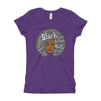 Girl's Afro Magic Dark T-Shirt