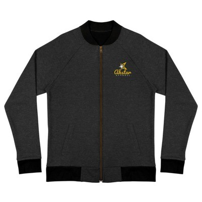 AkStar Signature Black Bomber Jacket