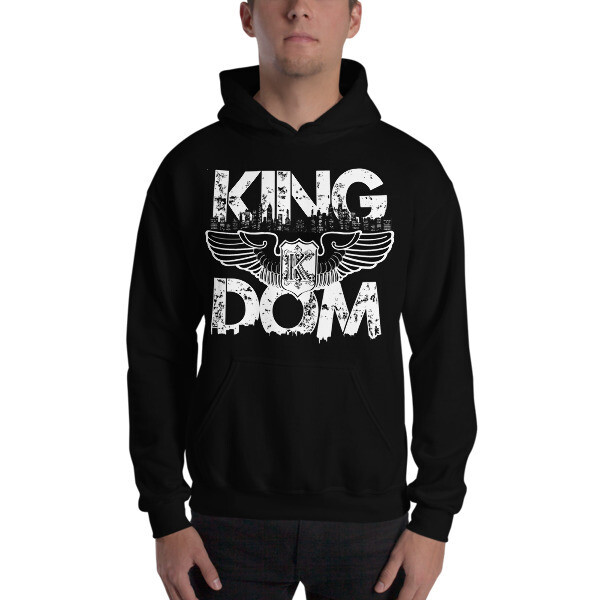 Kingdom Original Black Hooded Sweatshirt