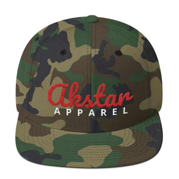 AkStar Signature Camo Red Snapback