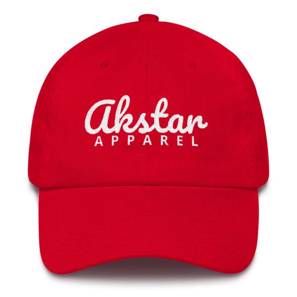 AkStar Signature Ladies Red Cotton Cap