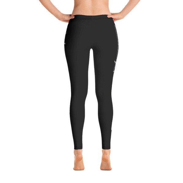 AKSTAR LOGO SM BLACK FITNESS LEGGINGS