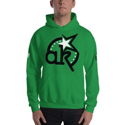 42 AKSA Logo Grn Hooded Sweatshirt