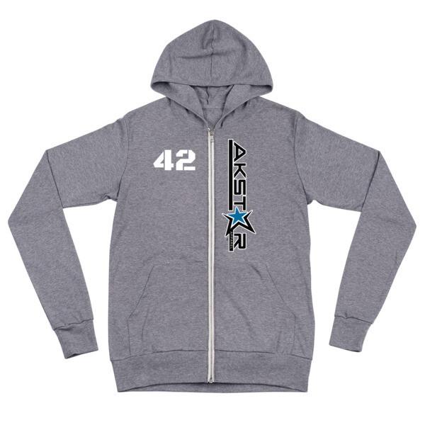 The AKStar zip hoodie