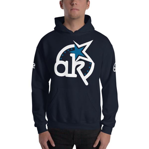 42 AKSA Logo Nvy Hooded Sweatshirt