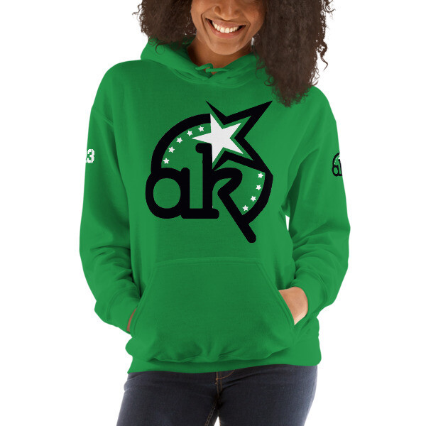 23 AKSA LOGO GRN HOODED SWEATSHIRT L