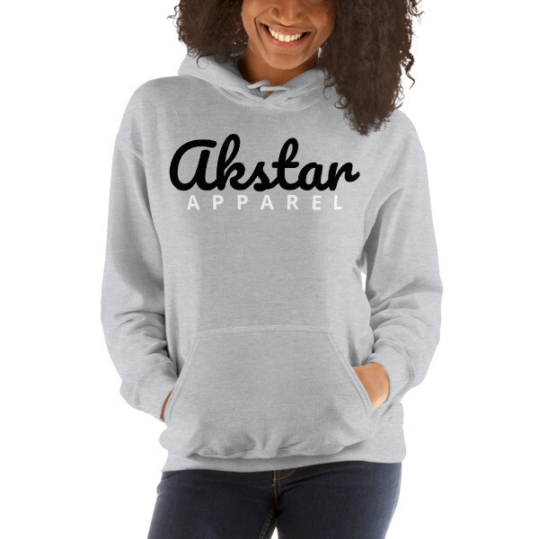 AKStar Signature Grey Hooded Sweatshirt L