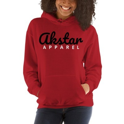 AKStar Signature Red Hooded Sweatshirt L