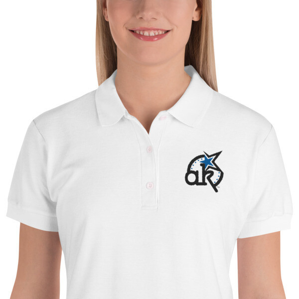 Women's AKStar Logo Wht Polo Shirt