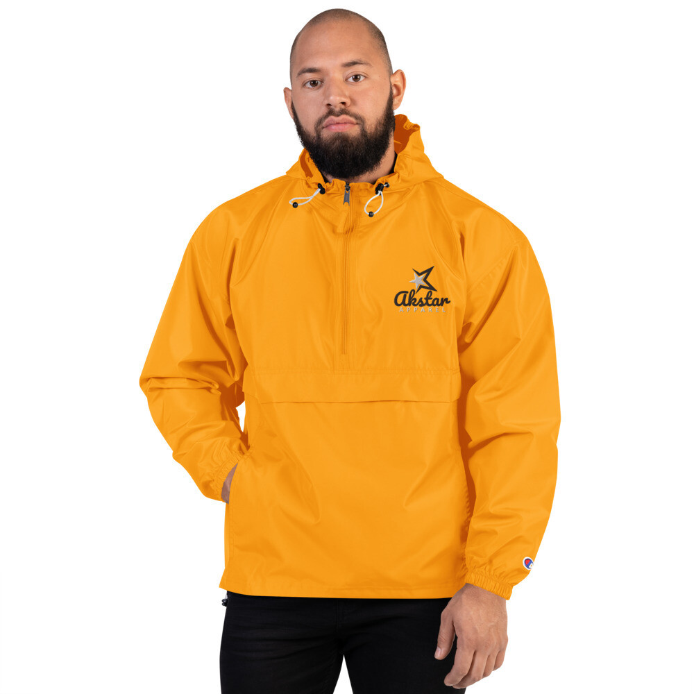 Rising AKStar Champion Packable orange Jacket
