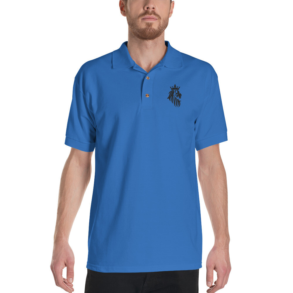 KO King Lion Royal Embroidered Polo Shirt