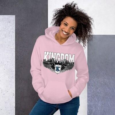 Kingdom Logo Hoodie Pink L