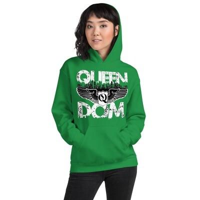 Queendom Original Green Hooded Sweatshirt